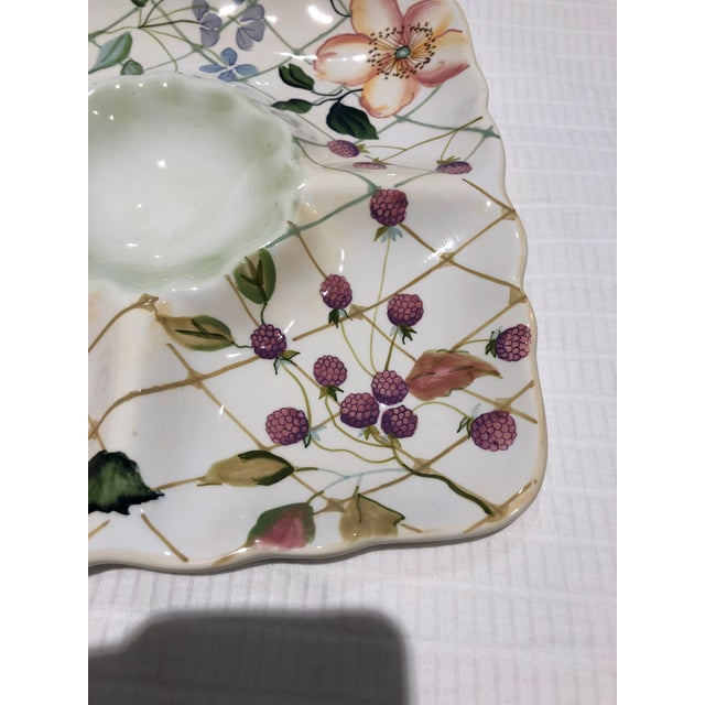 "Shabby Chic Tracy Porter ""Evelyn"" Pattern Chip & Dip For Sale - Image 3 of 9"