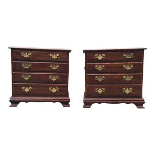 Solid Cherry Nightstands- a Pair For Sale