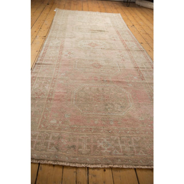 """Old New House Vintage Distressed Oushak Rug Runner - 4'8"""" X 11'5"""" For Sale - Image 4 of 13"""