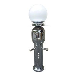 1970s Vintage Chrome Torino Style Robot Lamp For Sale