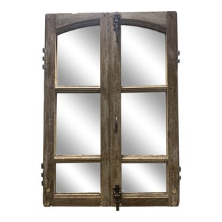 1950s Vintage French Window Mirrors - a Pair For Sale