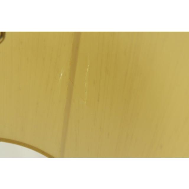 1960s Mid Century Modern Brass Wood Glass Stiffel Regency Table Lamp Light For Sale - Image 10 of 12
