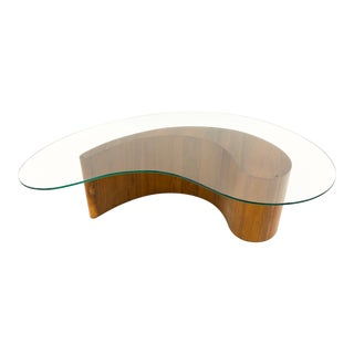 Vintage Mid Century Vladimir Kagen Comma Coffee Table For Sale