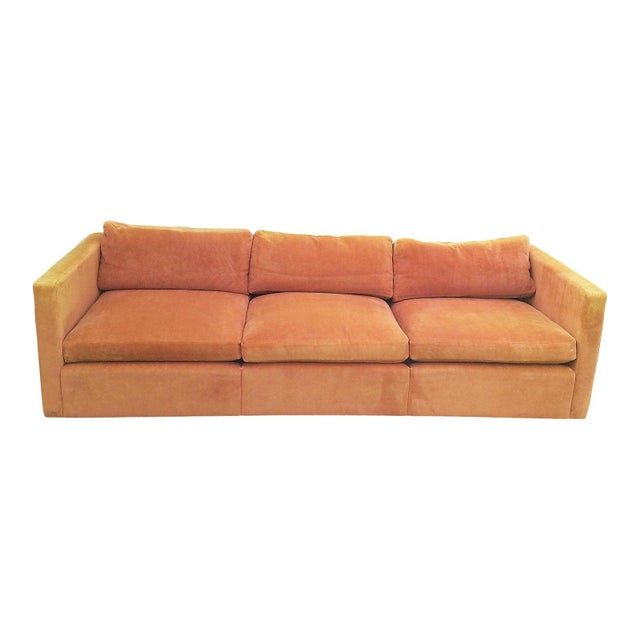 Cool 1970S Knoll Mid Century Modern Burnt Orange Sofa Machost Co Dining Chair Design Ideas Machostcouk