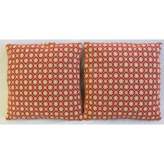 """Italian Scalamandre Colony Xi'An Feather/Down Pillows 21"""" Square - Pair Preview"""