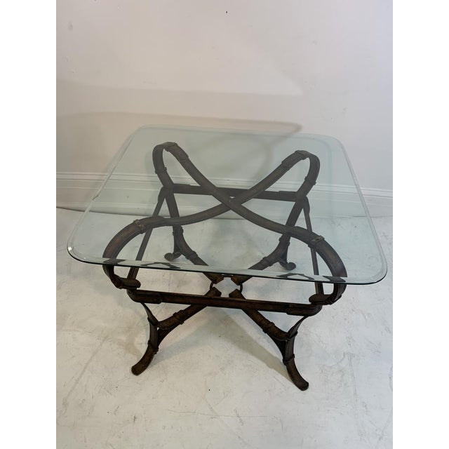 Hermes Equestrian Iron Strap Side Table For Sale In Philadelphia - Image 6 of 13