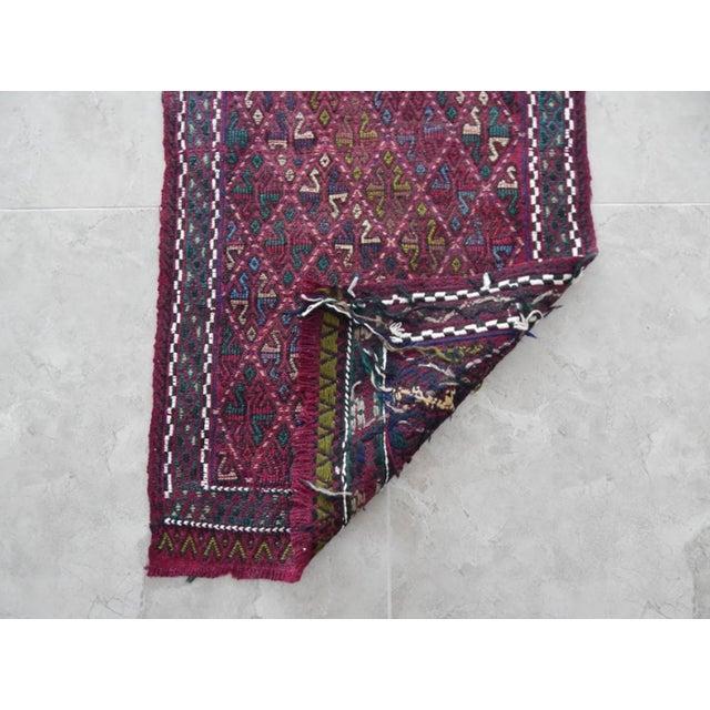 Textile Handwoven Turkish Kilim Rug Pastel Colors Area Rug Petite Braided Kilim For Sale - Image 7 of 8