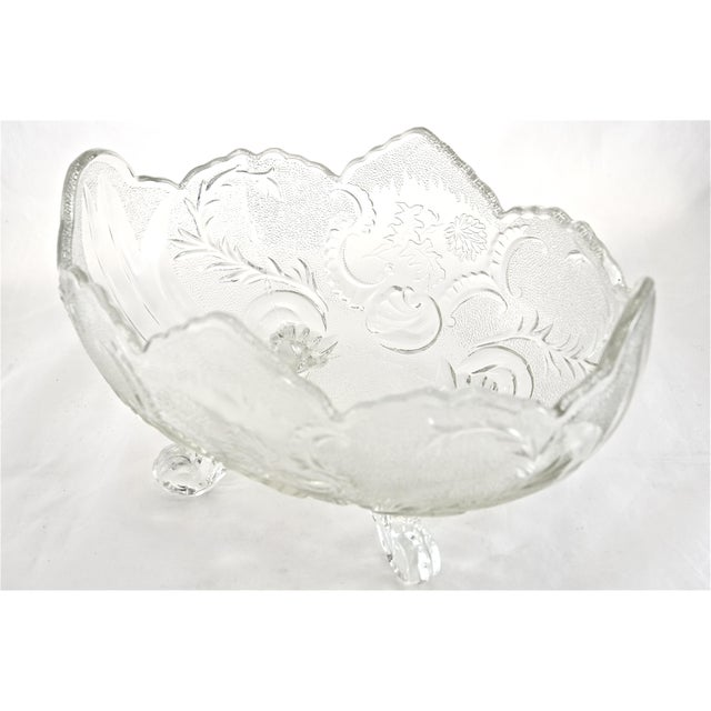 Antique Oval Footed Flower & Vine Bowl - Image 2 of 4
