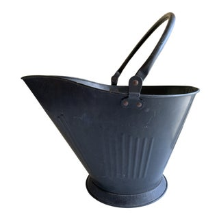 Large Fireplace Pail or Wood Vessel For Sale