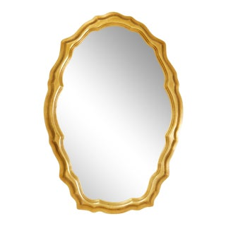 1980s Decorative Art in New York Snow White Oval Shaped Mirror For Sale