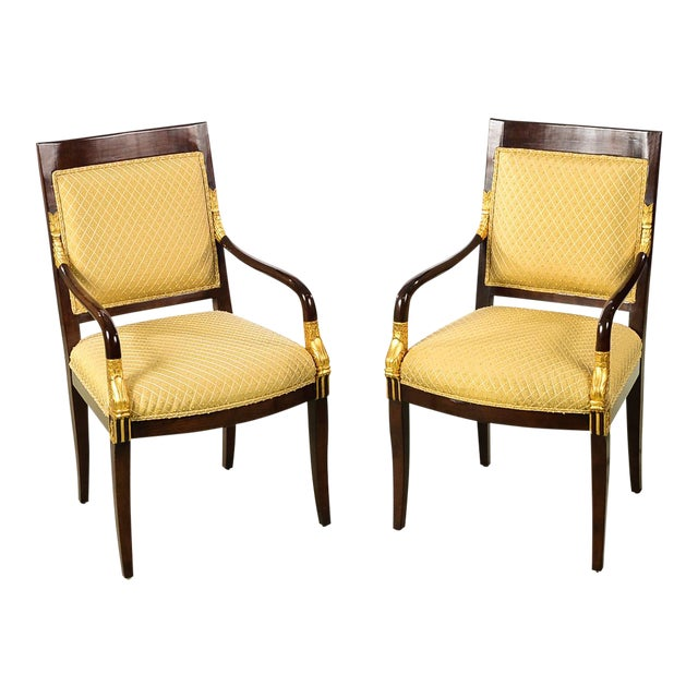 French Empire Mahogany Chairs -A pair For Sale