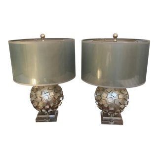 Mid-Century Inspired Art Globe Lamps - Pair For Sale