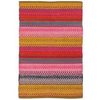 "Cotton Woven Striped Runner Rug - 2'6"" x 8'"