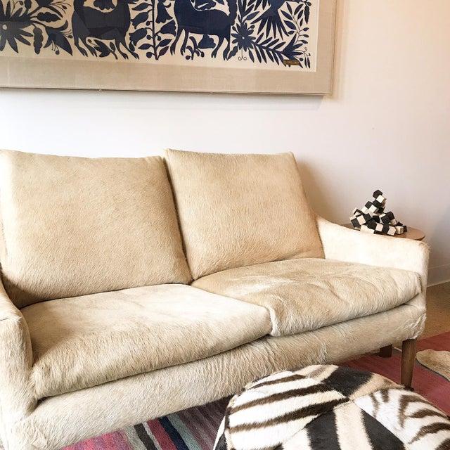Forsyth Zebra Hide Pouf Ottoman For Sale In Saint Louis - Image 6 of 9