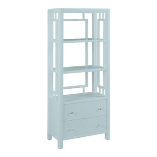 Devon Bookcase, Palladian Blue For Sale