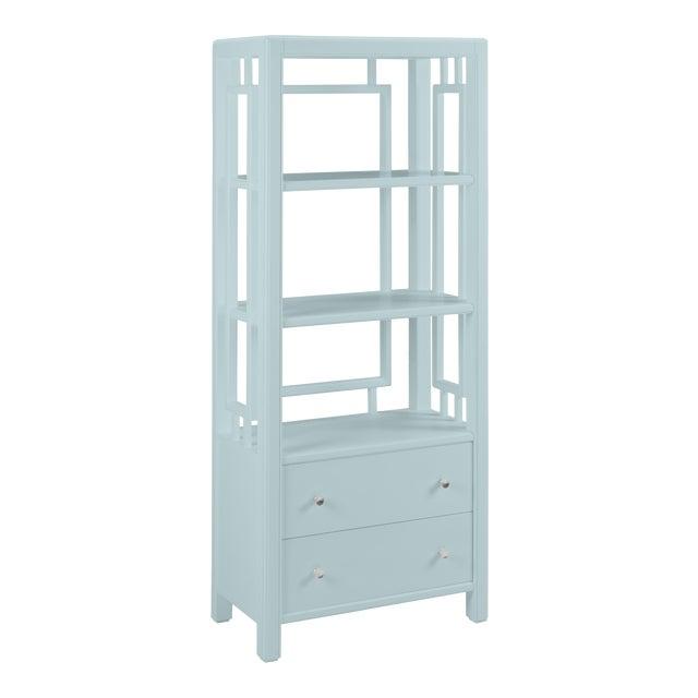 Devon Bookcase, Palladian Blue For Sale