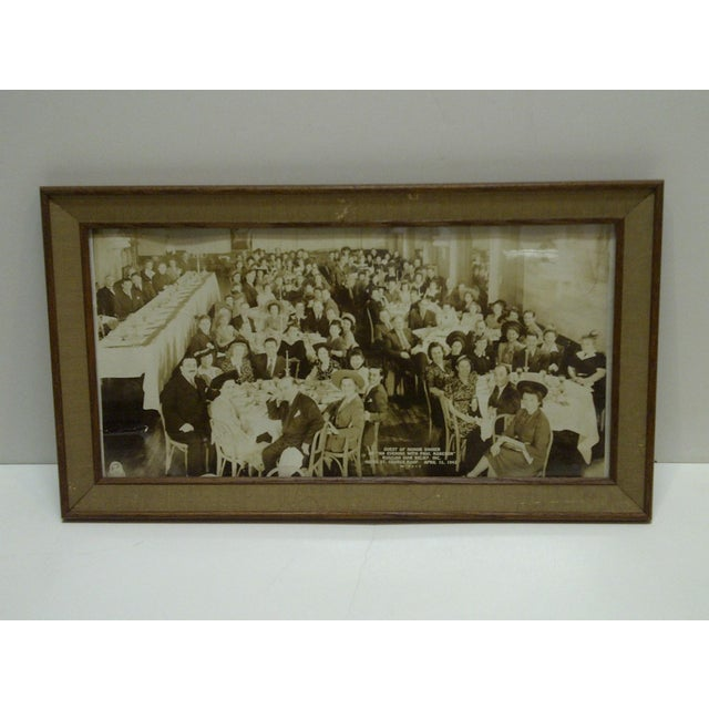 "This is an Vintage -- Black And White Photograph -- ""Guest Of Honor Dinner - Russian War Relief - Hotel St. George"" --..."