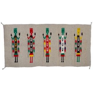 Vintage Navajo Yei Style Rug