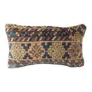 Vintage Bidjar Rug Fragment Decorative Lumbar Pillow