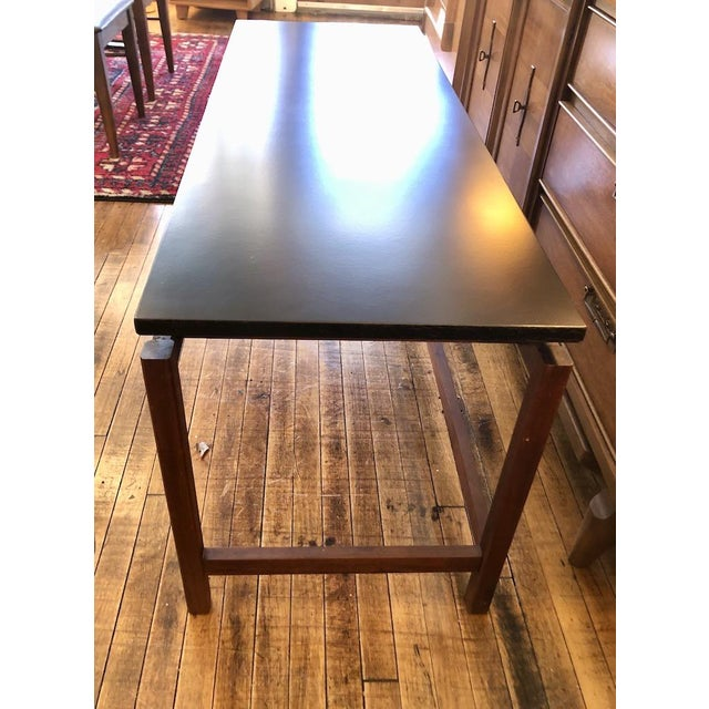 Mid-Century Modern Vintage Jens Risom Walnut Console Table 1960's For Sale - Image 3 of 6