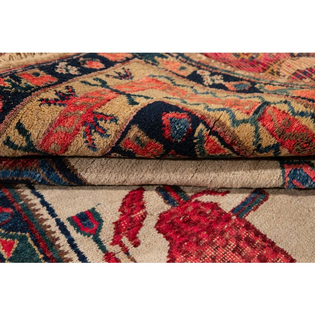 1960s Mid-20th Century Vintage Persian Rug 4' 2'' X 6' 3''. For Sale - Image 5 of 12