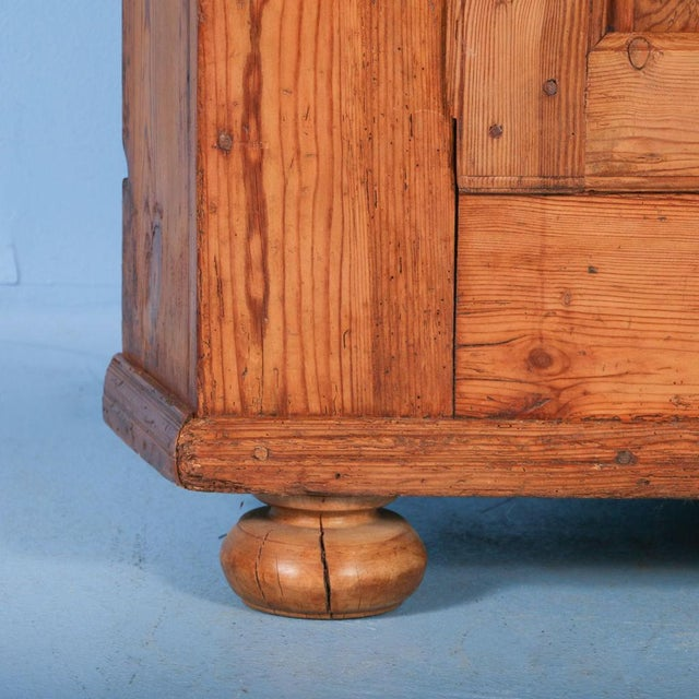 Early 19th Century 19th Century Antique Swedish Pine Corner Cabinet For Sale - Image 5 of 10