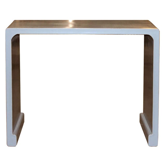 2010s Gray Waterfall Console Table For Sale - Image 5 of 5