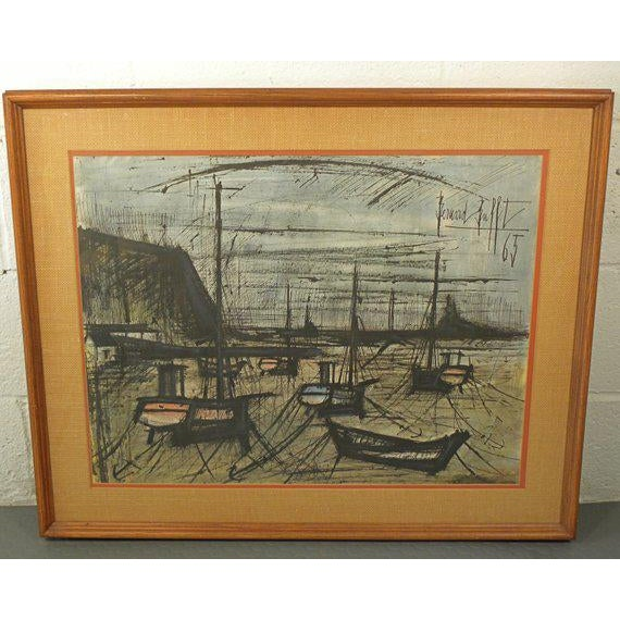 Vintage French Expressionist Bernard Buffet Lithograph For Sale - Image 9 of 9