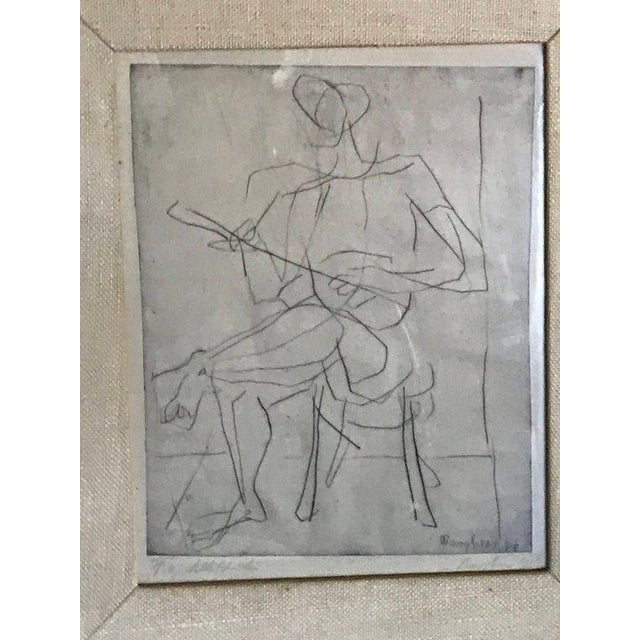 Abstract 1948 Germany Abstract Figural Etchings by Eduard Bargheer For Sale - Image 3 of 9