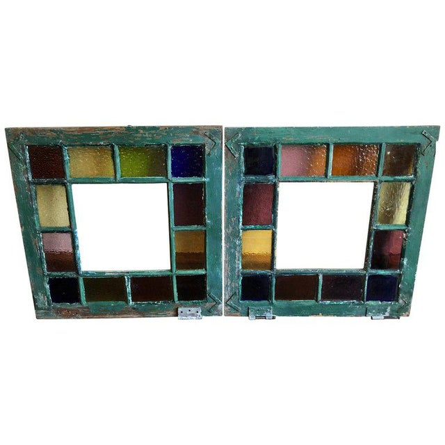 Stained Glass Windows - a Pair For Sale - Image 13 of 13