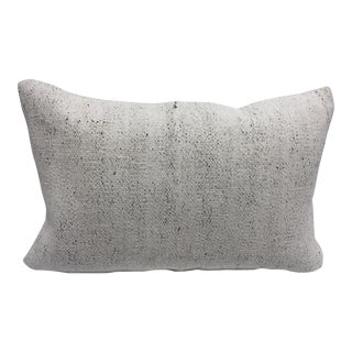 Turkish White Organic Traditional Handmade Sofa Pillow For Sale