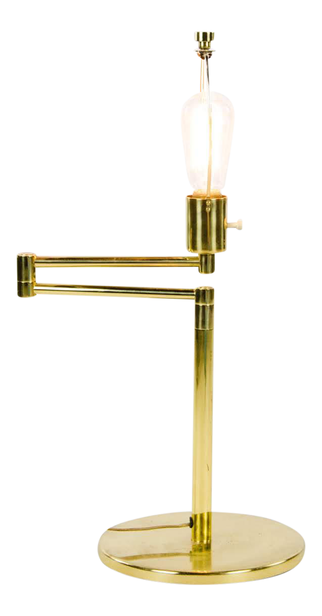 Picture of: 1950s Vintage George Hansen Brass Swing Arm Table Lamp Chairish