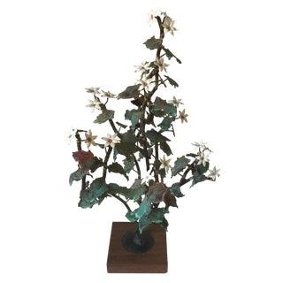 Tole Flowering Brutalist Tree
