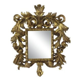 Robust Rococo Carved Gilt Frame Mirror 19th Century For Sale