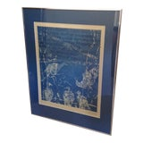 Image of 1980's Abstract Lithograph Artists Proof Print of Framed Birds For Sale