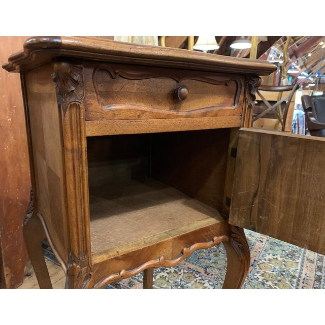 French 1920s French Walnut Bedside Cabinet For Sale - Image 3 of 7