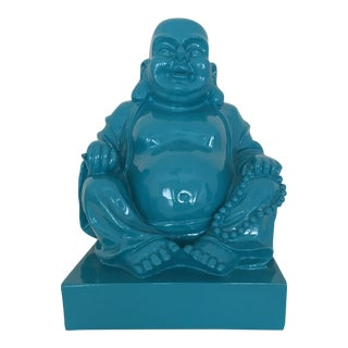 Blue Resin Buddha Figurine