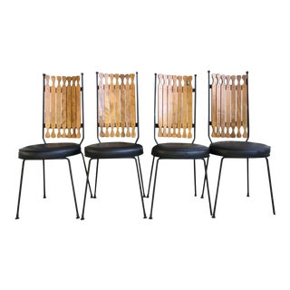 Mid Century Modern Arthur Umanoff Shaver-Howard High Back Dining Chairs- Set of 4 For Sale