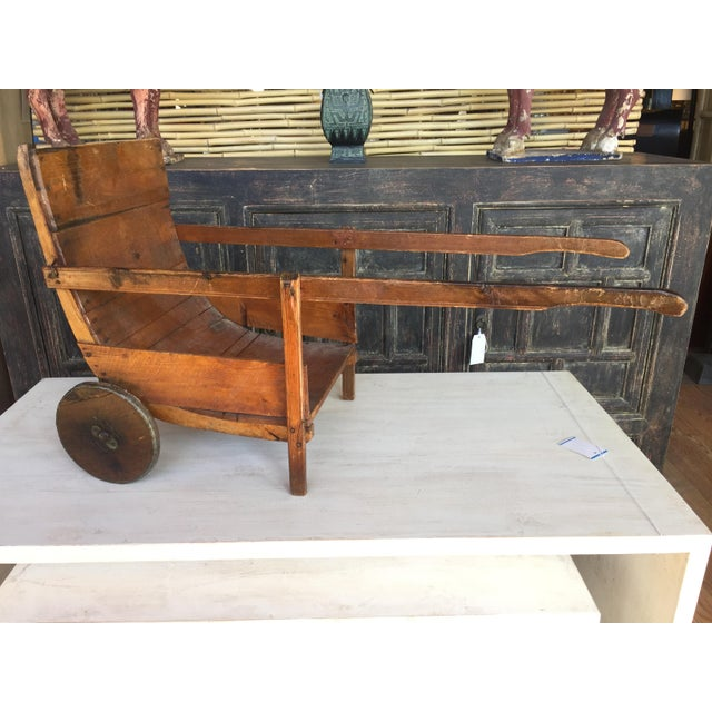 Antique Wood Sedan Chair For Sale In West Palm - Image 6 of 6