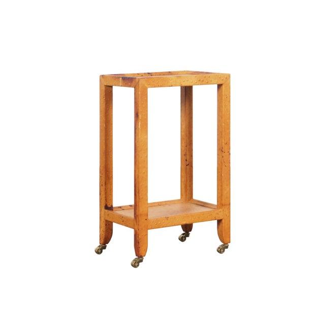 Vintage Ostrich Leather Table by Karl Springer For Sale - Image 9 of 9