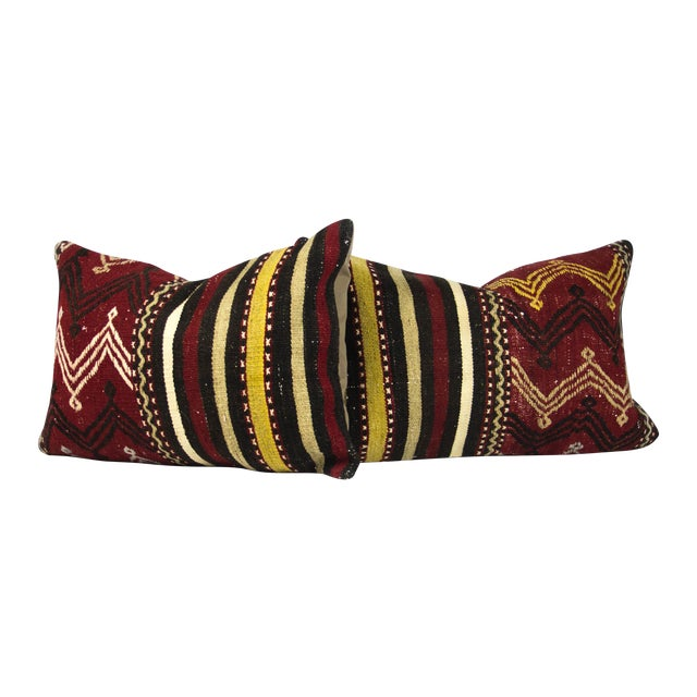 Ethnic Chic Lumbar Pillows - A Pair - Image 1 of 3