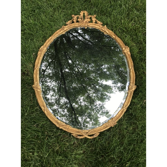 Gold Traditional Gold Gilted Oval Mirror by Carvers Guild For Sale - Image 8 of 8