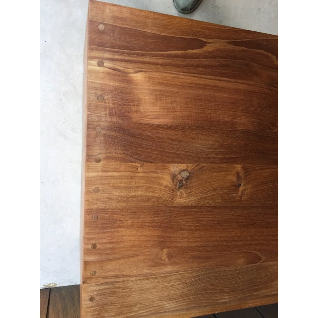 1960s 1960s Vintage Walnut Bench With Magazine Holder For Sale - Image 5 of 11