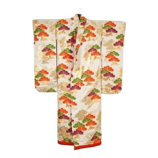 Vintage Silk Brocade Japanese Ceremonial Kimono For Sale