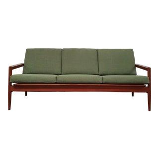 Mid Century Modern Danish Teak Sofa by Borge Jensen For Sale