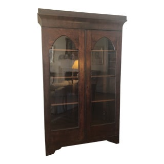 19th Century Empire Mahogany Display Cabinet For Sale
