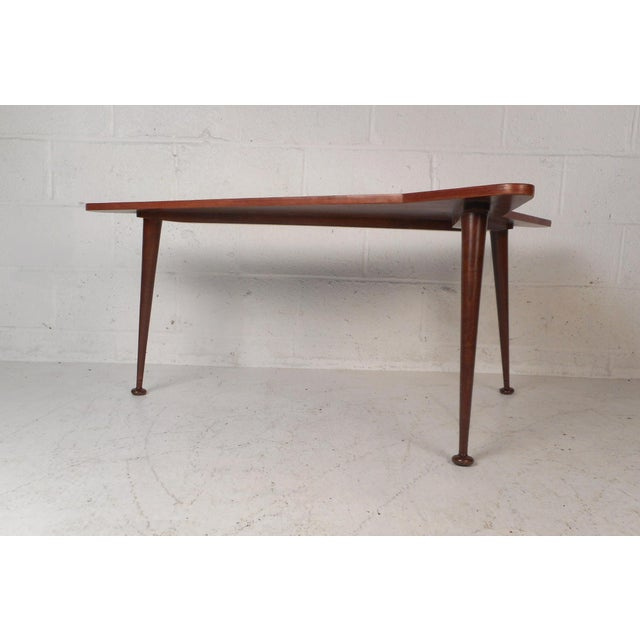 American Beautiful Contemporary Modern Boomerang Coffee Table For Sale - Image 3 of 10