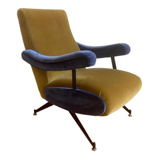 Italian Reclining Lounge Chair by Formanova For Sale
