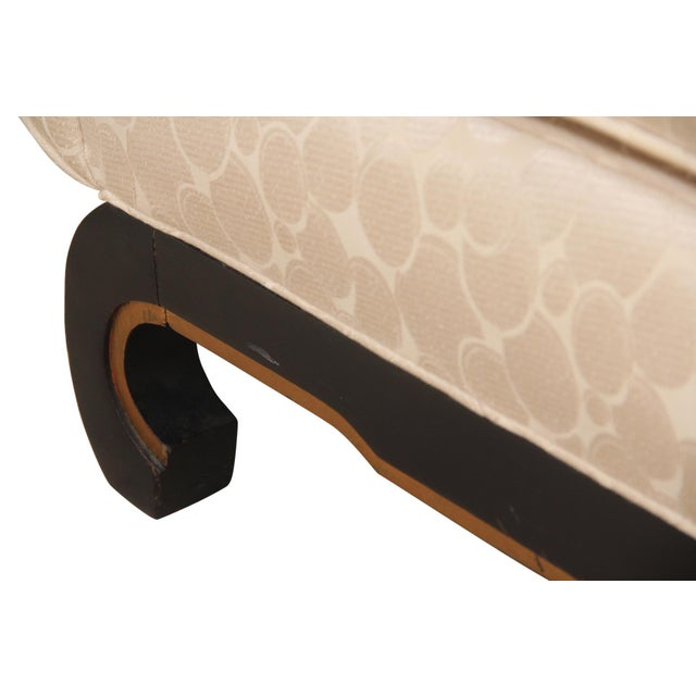 "James Mont Style Ming Sofa in Ivory ""Champagne Bubble"" Fabric For Sale In Tampa - Image 6 of 8"