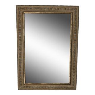 Italian Gilded Needlepoint Mirror For Sale